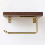 Wooden Shelf Toilet Paper Holder