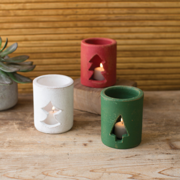 Clay Votive Luminaries Set