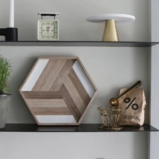 Tray Wooden Geometric Tray Homeplistic