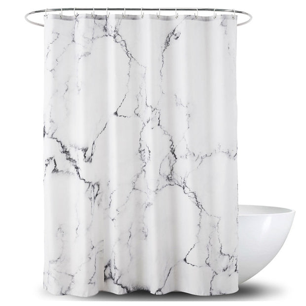 White Marble Shower Curtain - Homeplistic