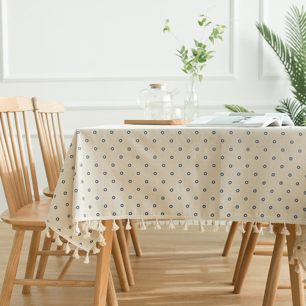 Linen Tassel Tablecloth
