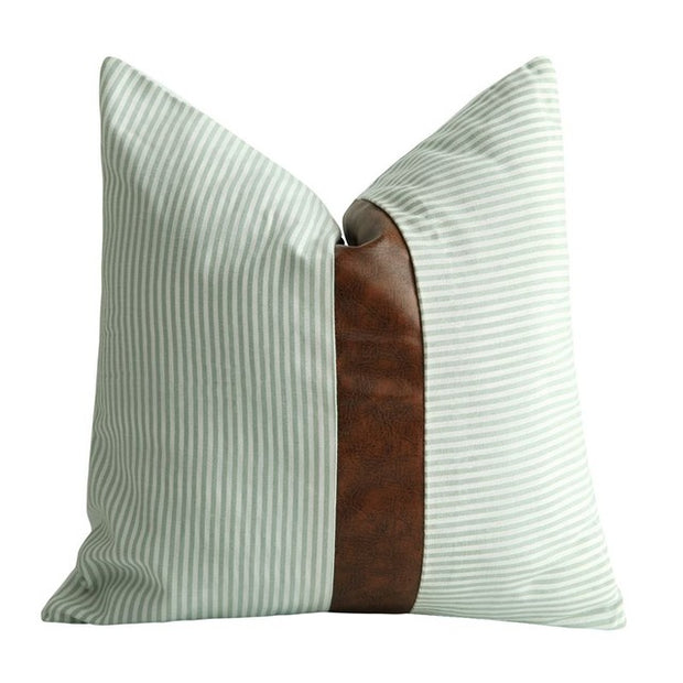 Farmhouse Leather Pillow - Homeplistic