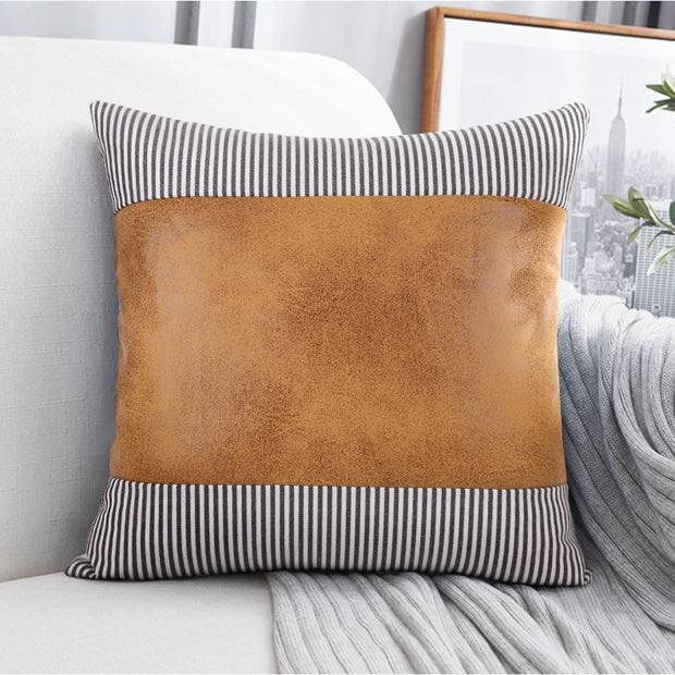 Madeline Leather Pillows - Homeplistic - Free Shipping!