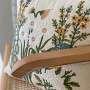 Linen Wildflower Pillow