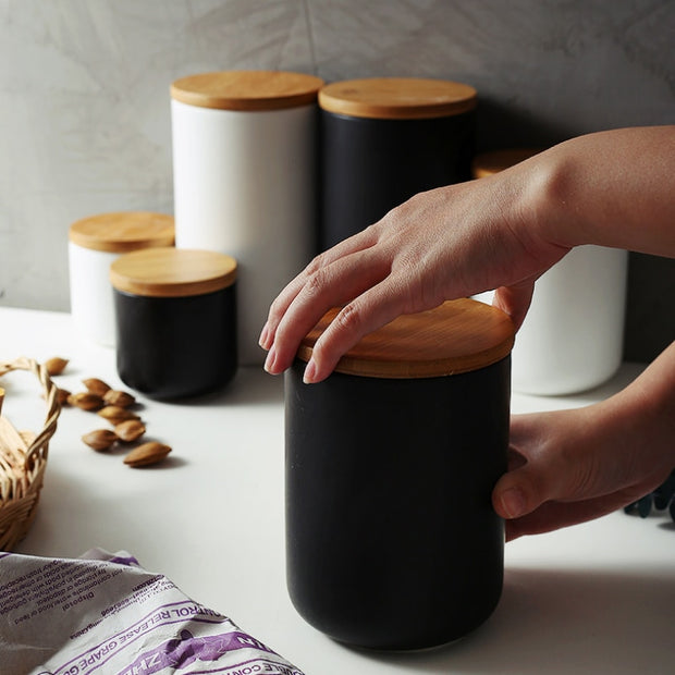 Kendall Ceramic + Wood Containers