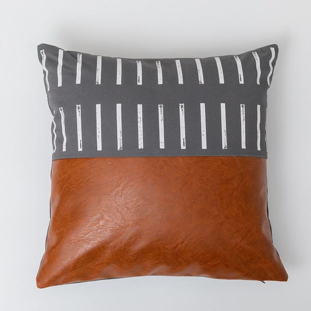 Joey Geometric Leather Pillows