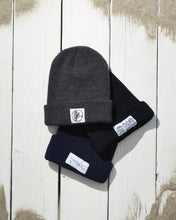 Load image into Gallery viewer, Navy Whale Patch Beanie