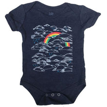 Load image into Gallery viewer, Infant Heather Navy Rainbow Bodysuit Onesie
