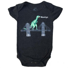 Load image into Gallery viewer, Infant Dinosaur On Brooklyn Bridge Onesie