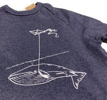 Load image into Gallery viewer, Unisex Navy Whale With Kite Crew