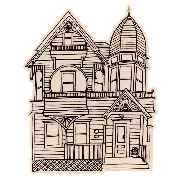 Victorian House number1 Sticker