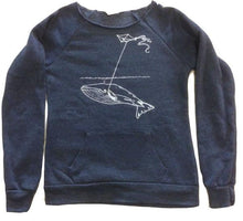 Load image into Gallery viewer, Womens Navy Whale Sweater