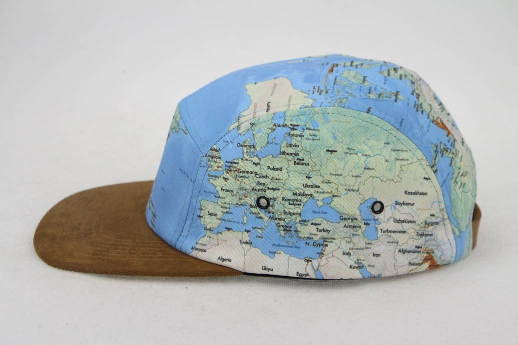 World Map Cap Hat