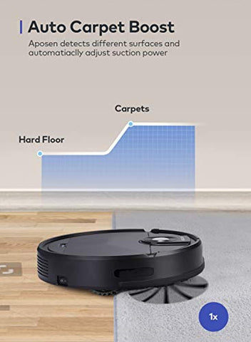 APOSEN 1500Pa Self-charging Robot Vacuum 360° Smart Protection A200
