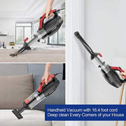 APOSEN 16KPa Corded Handheld Vacuum Multi-attachments for Home Car Cleaning H21-500 - Aposen