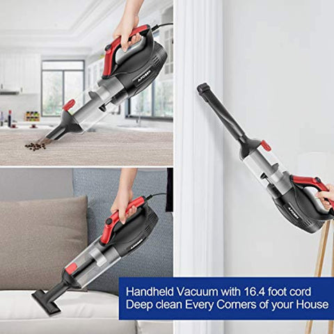 APOSEN 16KPa Corded Handheld Vacuum Multi-attachments for Home Car Cleaning H21-500