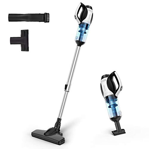 APOSEN Cordless Vacuum Cleaner, 4 in 1 Stick Handheld Vacuum Cleaner, 14Kpa Strong Suction, Cyclone HEPA Filtration, Quiet, Lightweight, Multi-Attachments for Home Car Pet Hair Hard Floors - H20-4P - Aposen