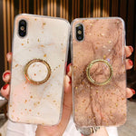 Nordic Style Marble iPhone Case with Stand