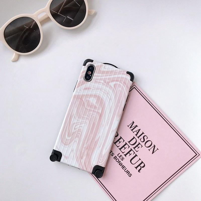 2019 Suitcase + Marble Style Creative iPhone Case - hotbuyy