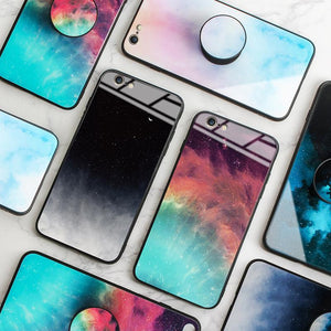 2020 ins Hot Frosty Glass Case For iPhone With Popsocket