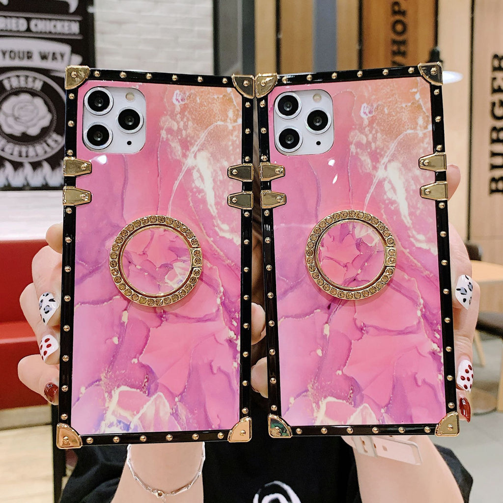2020 Dreamlike Pink Gold Marble Style For iPhone Samsung