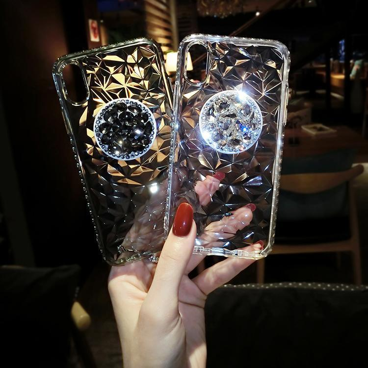 Diamante Pattern Mobile Phone Case iPhone(with AirBag Bracket) - hotbuyy