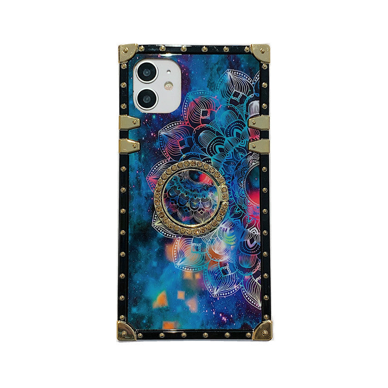 Vintage Galaxy Flower Style Phone Case For iPhone Samsung