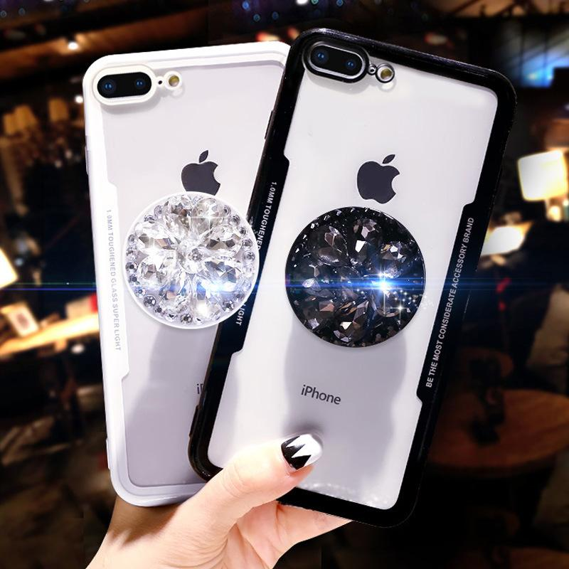 Diamond Airbag Bracket Phone Case For iPhone