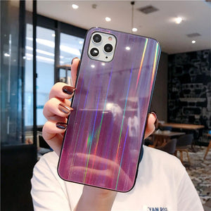 2020 Cool Glitter Gradient Aurora Case For iPhone