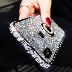 2020 Glitter Diamond Phone Frame For iPhone with Ring Stand - hotbuyy