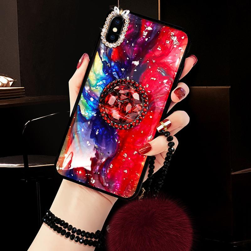 2019 New Diamond Bracket iPhone&Samsung Case With Bracelet and Popsocket - hotbuyy