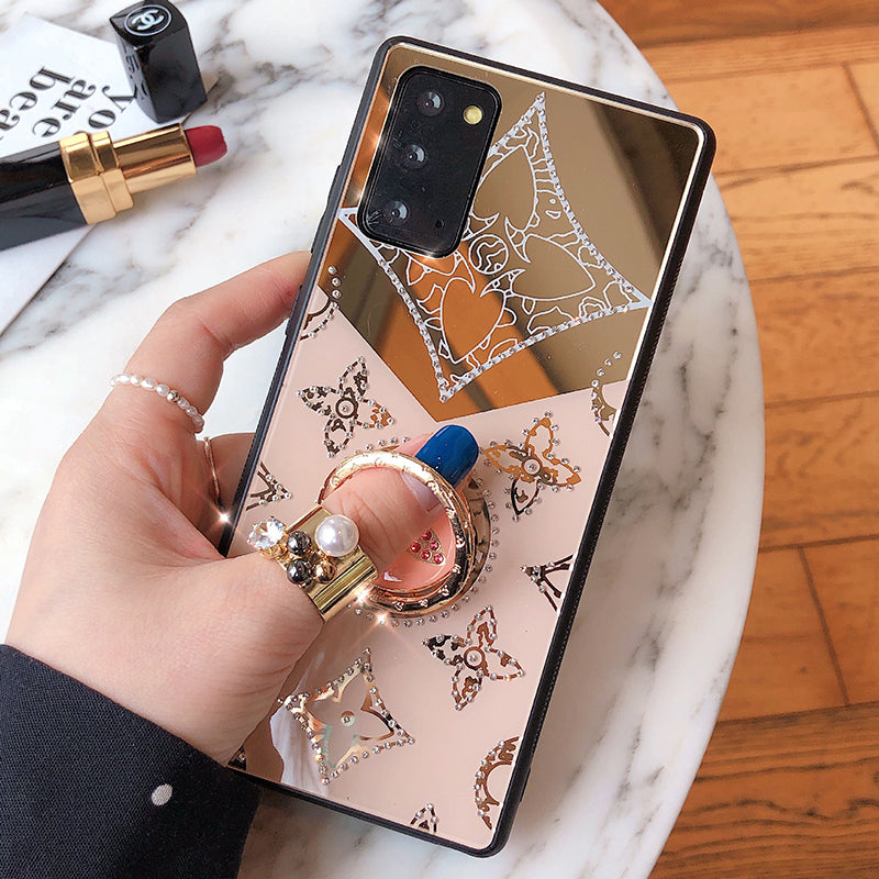 Lucky Diamond Makeup Mirror Samsung Phone Case A51 A70 A71 NOTE20 S20 S21