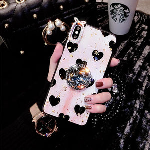 2019 Newest Luxury Diamond Phone Case With Bead Chain For iPhone