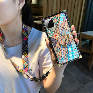 High Quality Bohemian Lanyard Ring Phone Case For iPhone Samsung Huawei - hotbuyy