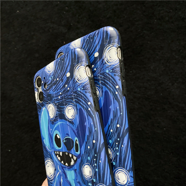"""Stitch"" galaxy style iPhone case"