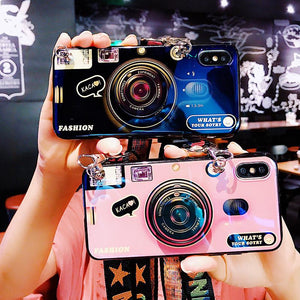 2020 Ins Trendy Bracket Lanyard Camera iPhone Case