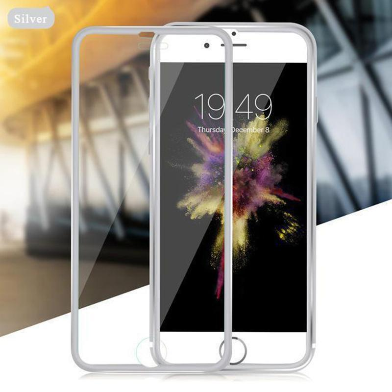 Tempered Glass Full Screen Protector 3D Aluminum Alloy For iPhone - VooChoice
