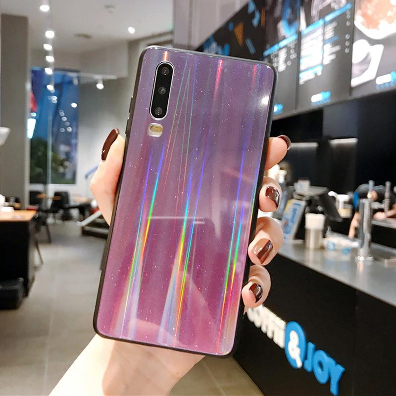 2020 Cool Glitter Gradient Aurora Case For Huawei