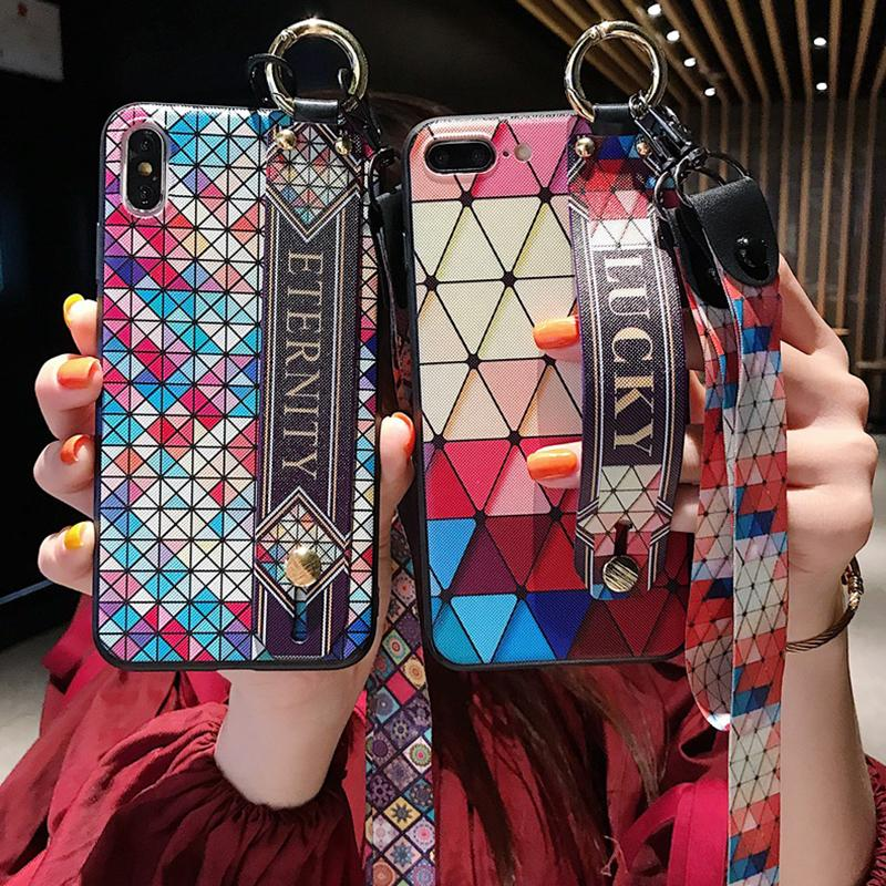 2020 Bohemian Style Ring Lanyard Phone Case For iPhone