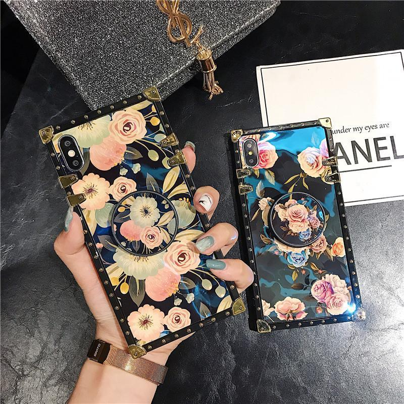 Stylish French Style Flower Popsocket Huawei Samsung iPhone Case