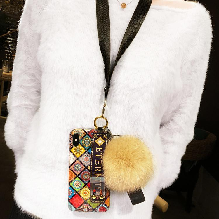 Luxury Wristband Bohemia Foxfur Ball Phone Case For iPhone - hotbuyy