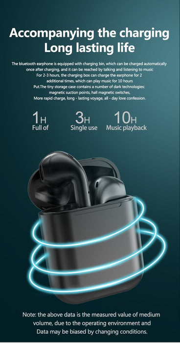 Metallic Colour Wireless Earbuds white