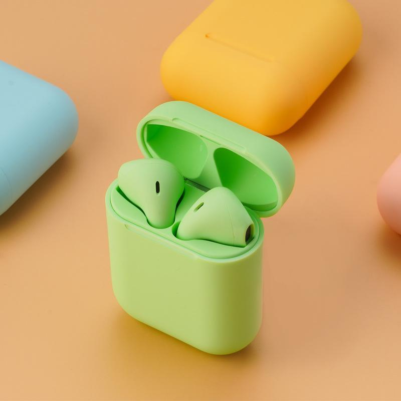 Metallic Colour wireless earbuds matte Green