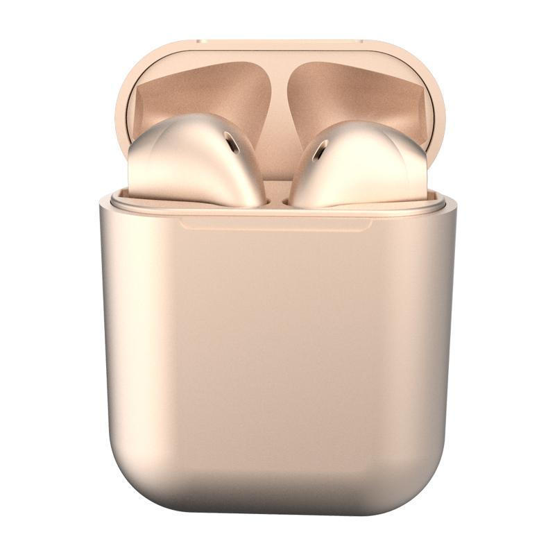 Metallic Colour Wireless Earbuds Gold