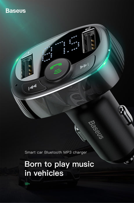 FM Transmitter Wireless Bluetooth Handsfree Car Kit Car Audio MP3 Player Quick Charge