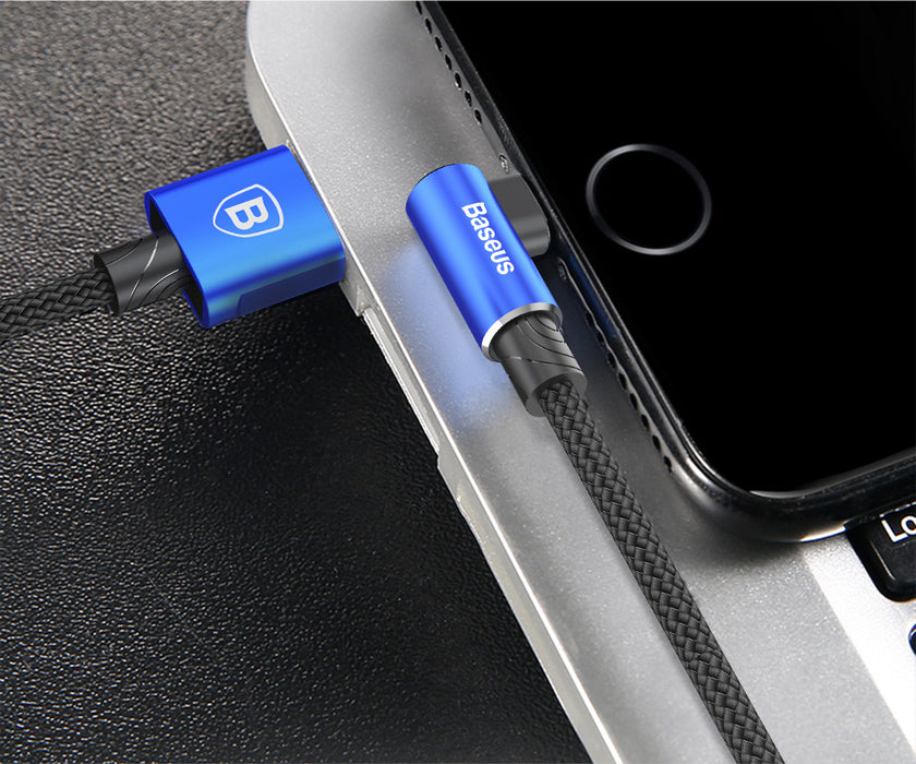 90 Degree USB Cable For iPhone 11 Pro Max Fast Charging