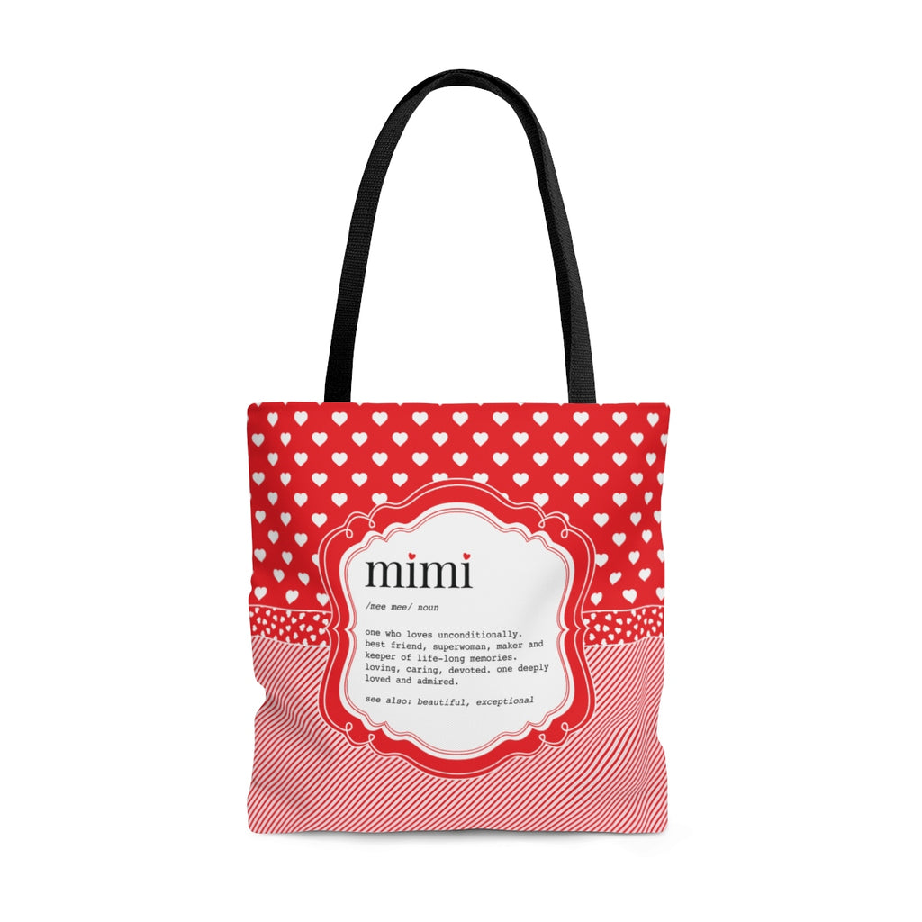 Mimi with Hearts Tote Bag