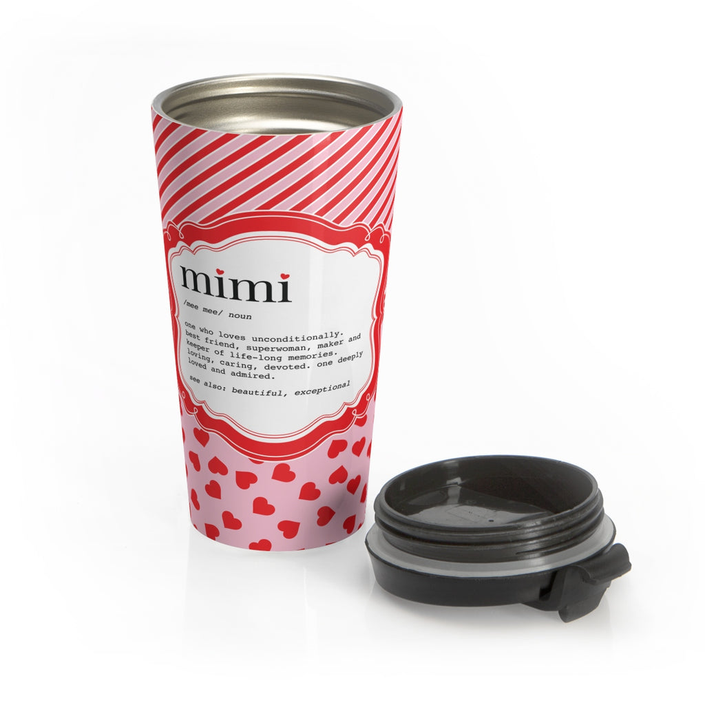 Candy Stripe Mimi Stainless Steel Travel Mug