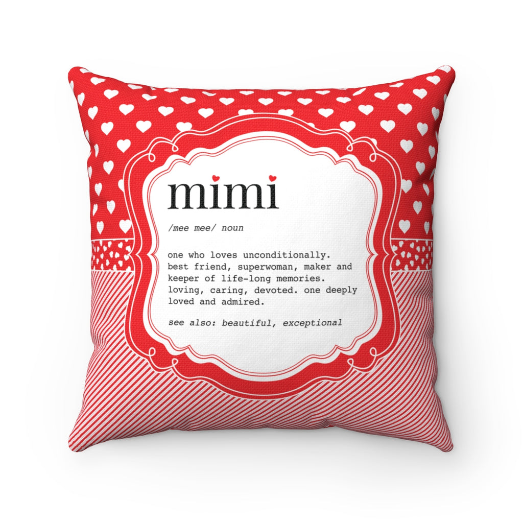 Hearts Mimi Pillow Red and Pink