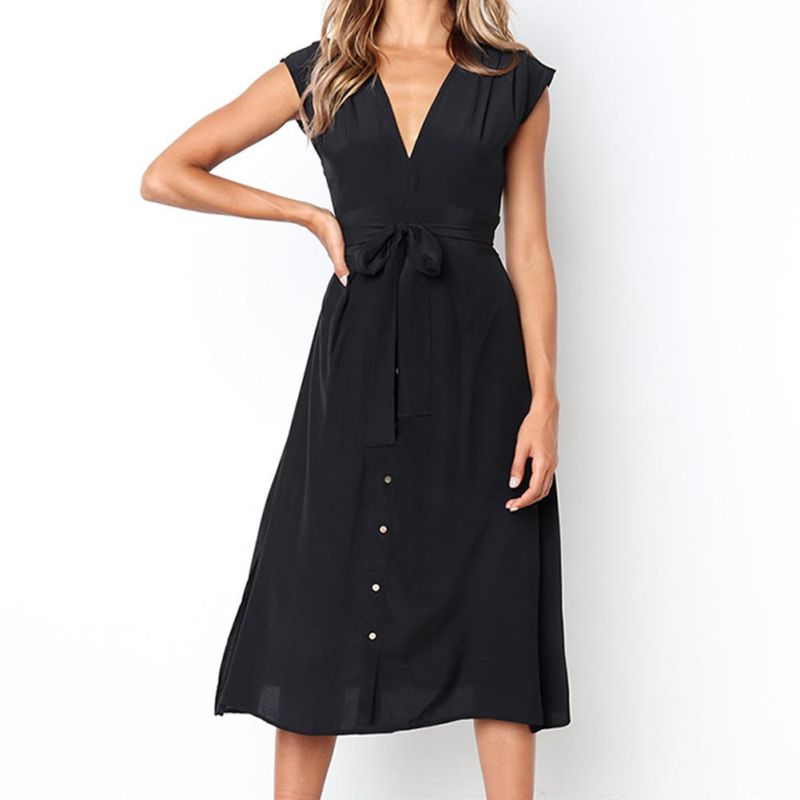 Deep V Shirtdress